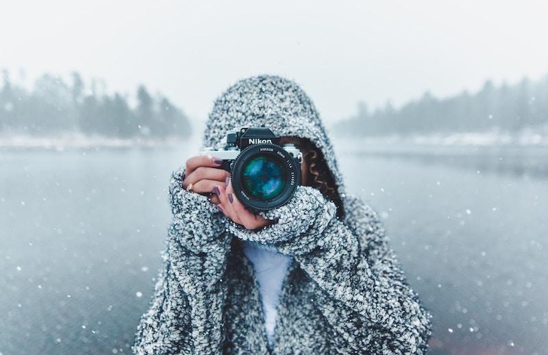 девушка фотограф