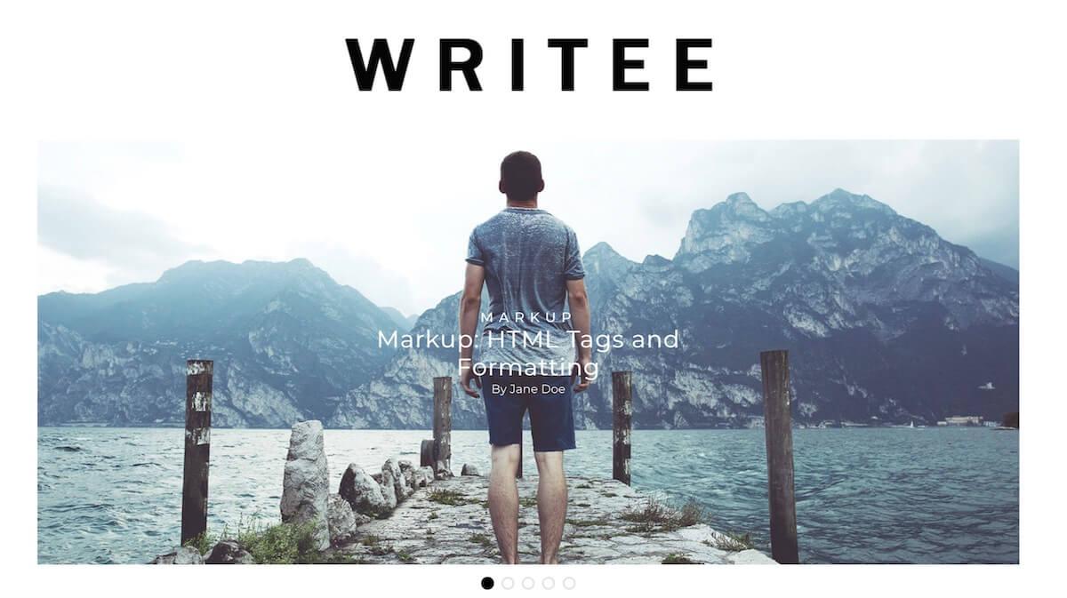 бесплатная тема для WP Writee