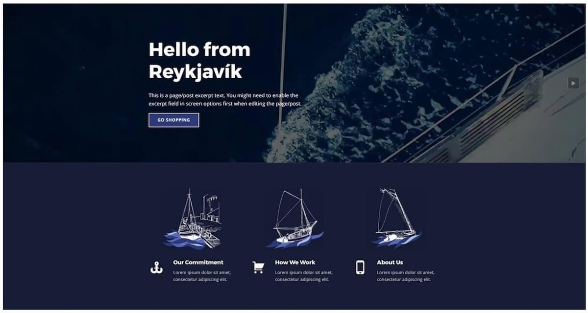 бесплатная тема WP Reykjavik