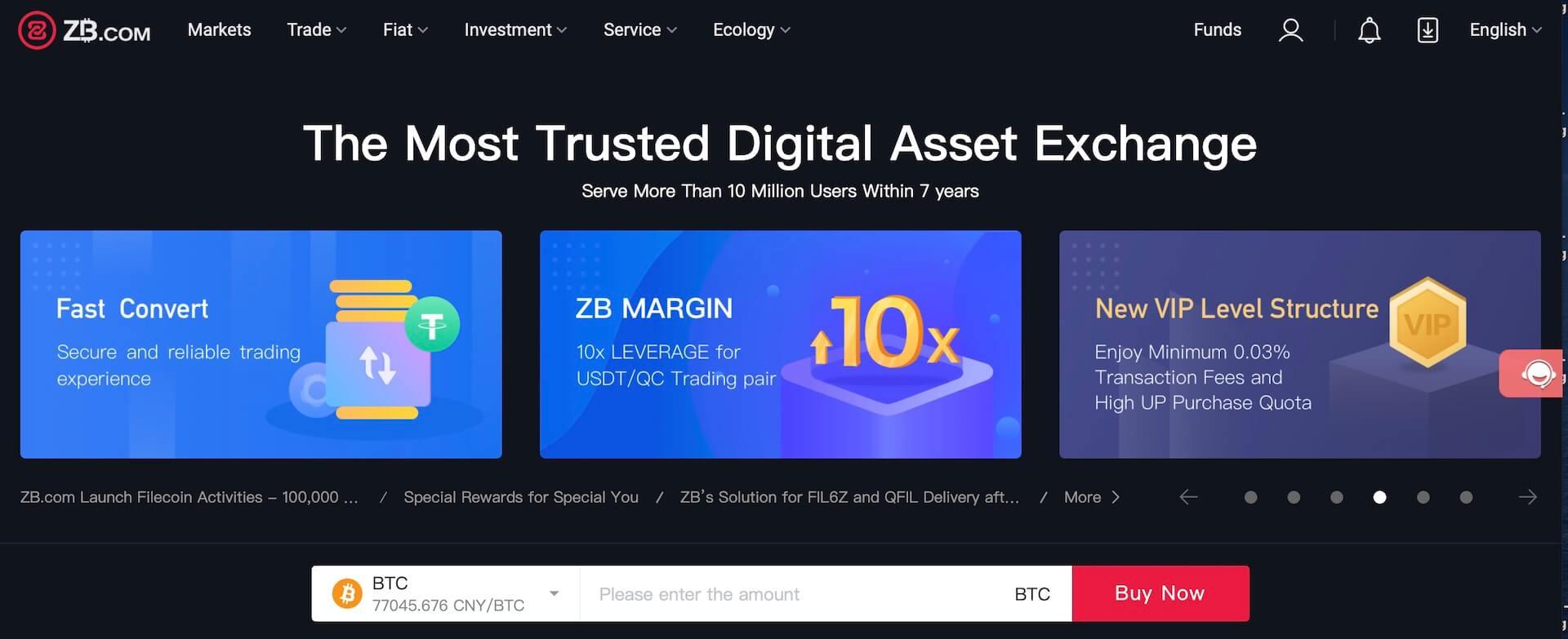 биржа криптовалют ZB